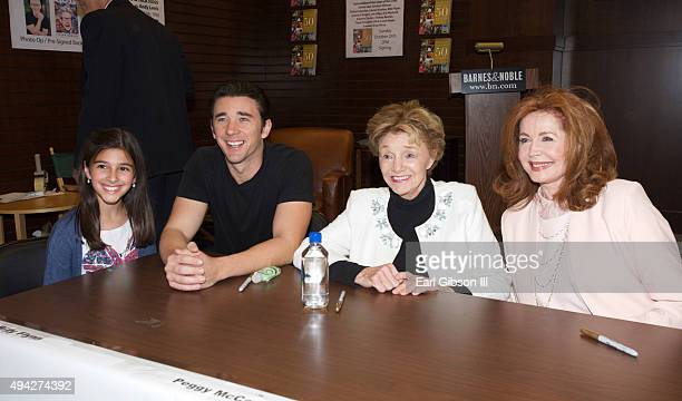 Billy Flynn Peggy McCay and Suzanne Rogers attend the 'Days Of Our Lives 50 Years' Book Signing at Barnes Noble at The Grove on October 25 2015 in...