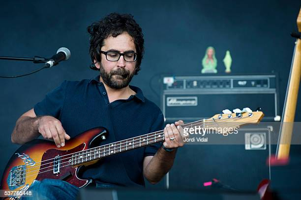 Billy Fuller of Beak performs on stage during Primavera Sound Festival Day 2 at Parc del Forum in Barcelona Spain