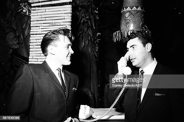 Billy Fury and manager Larry Parnes London circa 1965
