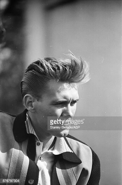 Billy Fury on set of the film 'I've Gotta Horse' Great Yarmouth United Kingdom circa 1965