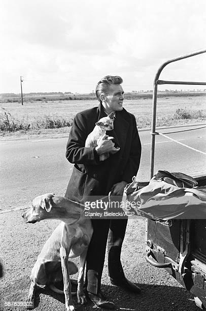 Billy Fury shooting the film 'I've Gotta Horse' Great Yarmouth United Kingdom circa 1965