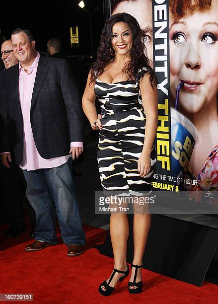 """Billy Gardell and Katy Mixon arrive at the Los Angeles premiere of """"Identity Thief"""" held at Mann Village Theatre on February 4, 2013 in Westwood,..."""