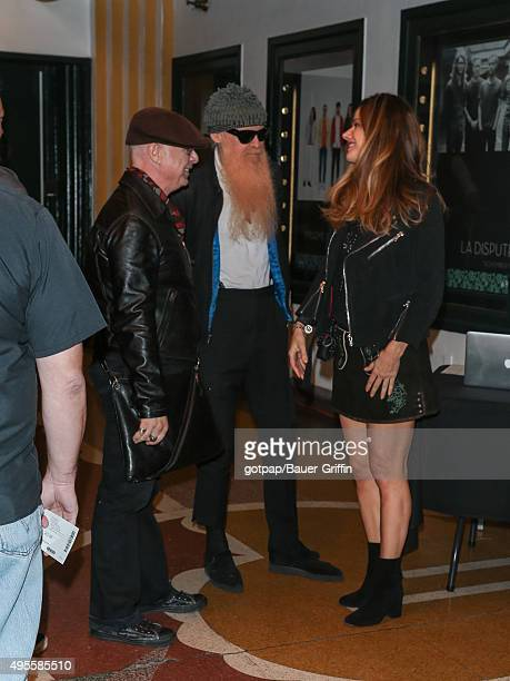Billy Gibbons and Gilligan Stillwater are seen attending the Benefit Concert And Live Auction For Rhonda's Kiss at El Rey Theatre on November 03,...