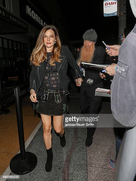 Billy Gibbons and Gilligan Stillwater are seen attending the Benefit Concert And Live Auction For Rhonda's Kiss at El Rey Theatre on November 03 2015...