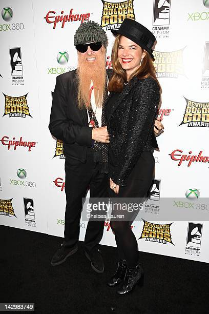Billy Gibbons and Gilligan Stillwater arrive at the 4th annual Revolver Golden Gods awards at Club Nokia on April 11, 2012 in Los Angeles, California.