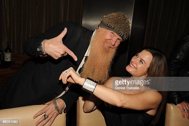 Billy Gibbons and Gilligan Stillwater attend Slash's birthday dinner at Stack Restaurant at The Mirage Hotel and Casino on July 24 2009 in Las Vegas...
