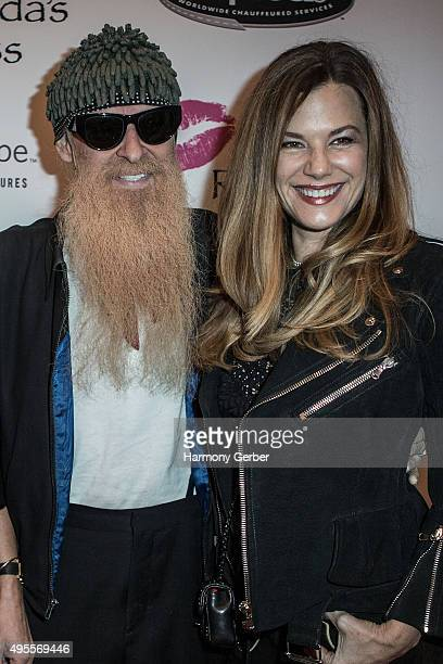Billy Gibbons and Gilligan Stillwater attend the Benefit Concert And Live Auction For Rhonda's Kiss at El Rey Theatre on November 3, 2015 in Los...