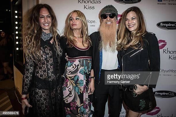 Billy Gibbons and Gilligan Stillwater attend the Benefit Concert And Live Auction For Rhonda's Kiss at El Rey Theatre on November 3 2015 in Los...