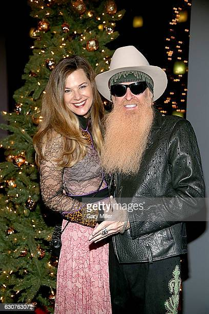 Billy Gibbons and his wife Gilligan Gibbons attend the New Years Eve Willie Nelson concert at ACL Live on December 31 2016 in Austin Texas
