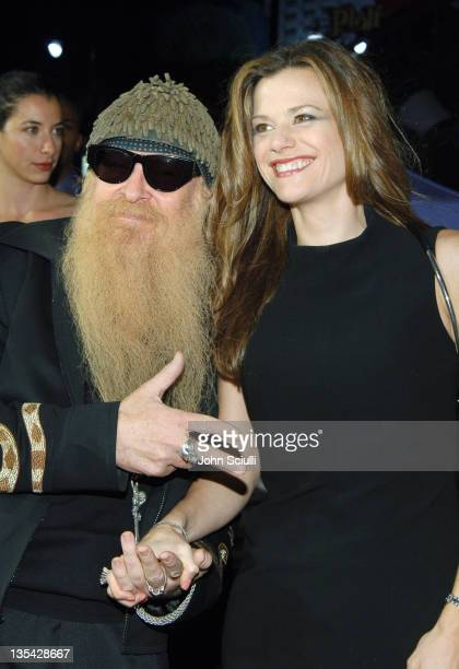 Billy Gibbons and wife Gilligan during Glory Road World Premiere Red Carpet at The Pantages Theater in Los Angeles California United States