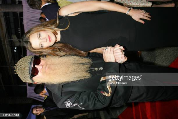 Billy Gibbons and wife Gilligan during World Premiere of Walt Disney Pictures and Jerry Bruckheimer Films' Glory Road at Pantages Theatre in...