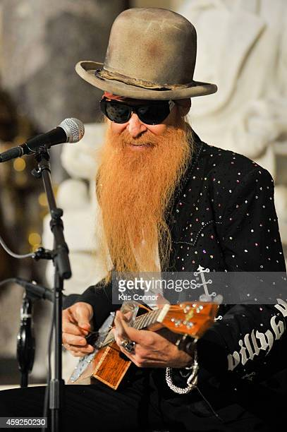 Billy Gibbons attends the Unveiling of Vaclav Havel Bust at US Capitol on November 19 2014 in Washington DC
