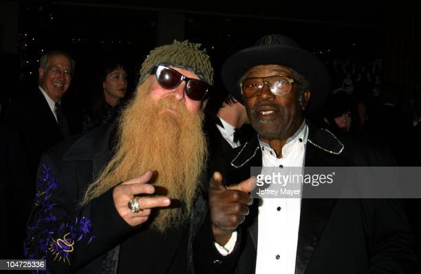 Billy Gibbons Bo Diddley during 2002 BMI Pop Awards at Regent Beverly Wilshire in Beverly Hills California United States
