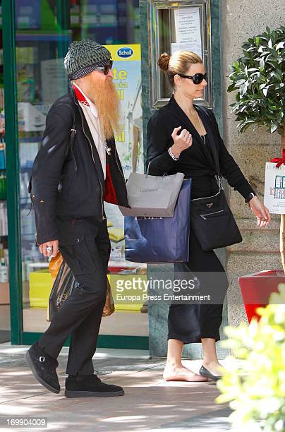 Billy Gibbons, member of 'ZZ Top' misic band and his wife Gilligan Stillwater are seen on June 3, 2013 in Madrid, Spain.