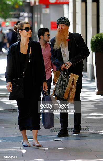 Billy Gibbons member of 'ZZ Top' misic band and his wife Gilligan Stillwater are seen on June 3 2013 in Madrid Spain