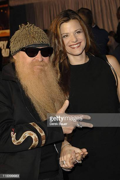 """Billy Gibbons of ZZ Top and guest during Walt Disney Pictures and Jerry Bruckheimer Films' Premiere """"Glory Road"""" at Pantages Theatre in Hollywood,..."""