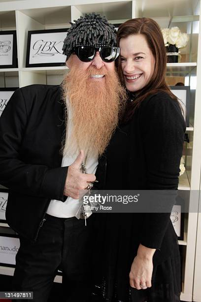 Billy Gibbons of ZZ Top and wife attend the GBK Golden Globe Gift Lounge at The London Hotel on January 15 2011 in West Hollywood California