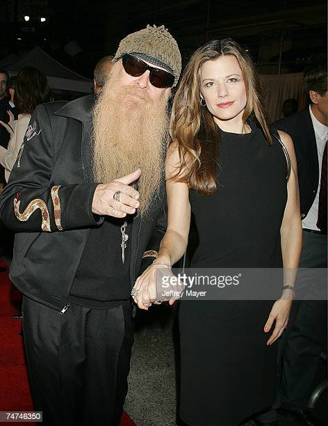 Billy Gibbons of ZZ Top and wife Gilligan at the The Pantages Theater in Hollywood California