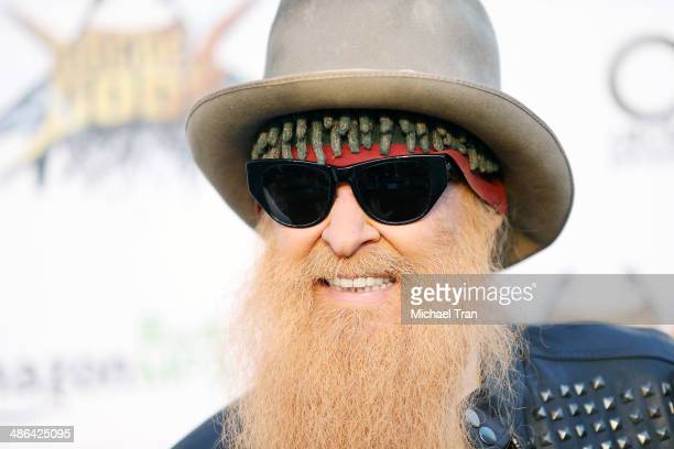 Billy Gibbons of ZZ Top arrives at the 6th Annual Revolver Golden Gods Award Show held at Club Nokia on April 23 2014 in Los Angeles California