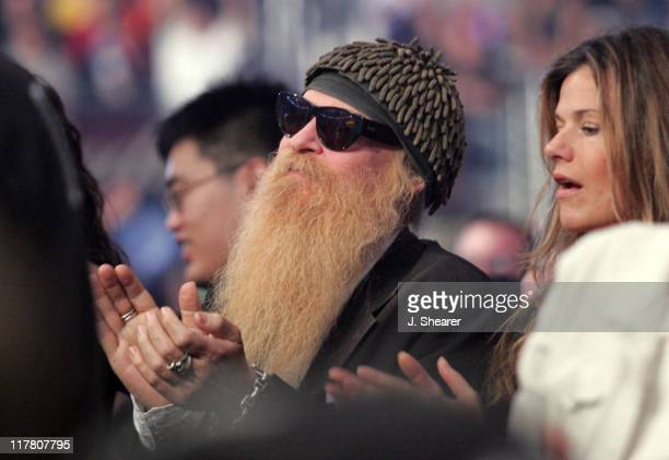 Billy Gibbons of ZZ Top during Celebrities at WWE WrestleMania 21 'WrestleMania Goes Hollywood' at Staples Center in Los Angeles California United...