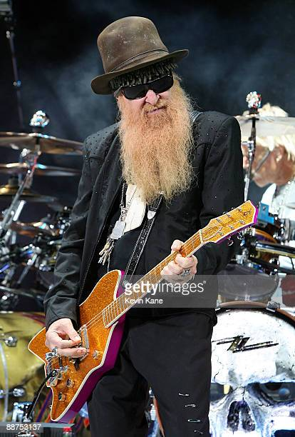 Billy Gibbons of ZZ Top performs in concert at Nikon at Jones Beach Theater on June 26 2009 in Wantagh New York