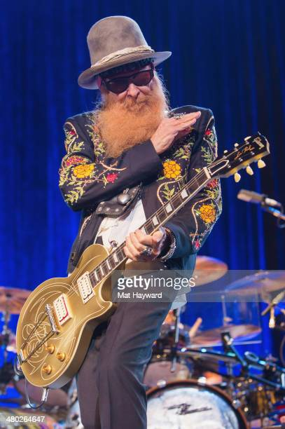 Billy Gibbons of ZZ Top performs on stage at The Moore Theater on March 23 2014 in Seattle Washington