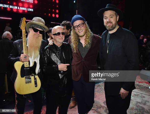 Billy Gibbons Paul Shaffer Allen Stone and Eric Krasno attend the Second Annual LOVE ROCKS NYC A Benefit Concert for God's Love We Deliver at Beacon...