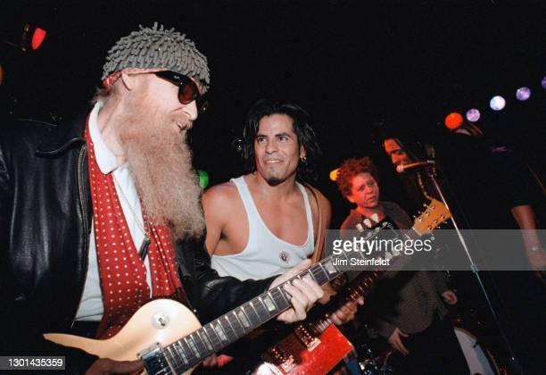 Billy Gibbons, Stevie Salas, Blondie Chaplin, Bernard Fowler perform at the Nicklebag concert at the Viper Room in Los Angeles, California on...