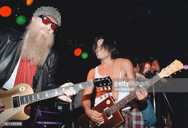 Billy Gibbons, Stevie Salas, Ivan Neville, Adam Duritz, Bernard Fowler perform at the Nicklebag concert at the Viper Room in Los Angeles, California...