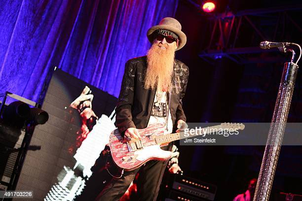 Billy Gibbons vocalist and guitarist for the band ZZ Top performs at Humphrey's Concerts By The Bay in San Diego California on September 13 2015