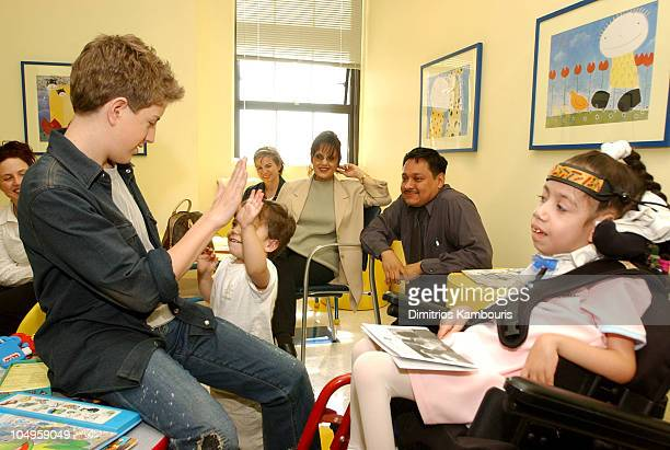 Billy Gilman Kevin Whitmore and Jasmine Ramos during Billy Gilman Visits MDA Clinic on the Release of His New CD at Columbia Presbyterian Medical...