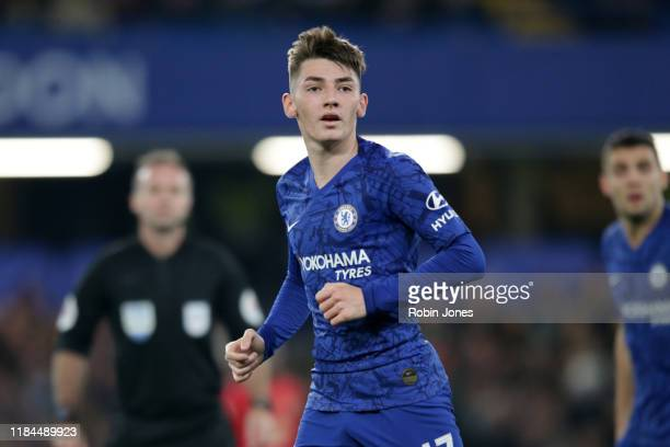 Billy Gilmour of Chelsea during the Carabao Cup Round of 16 match between Chelsea FC and Manchester United at Stamford Bridge on October 30 2019 in...
