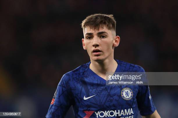Billy Gilmour of Chelsea during the FA Cup Fifth Round match between Chelsea FC and Liverpool FC at Stamford Bridge on March 3 2020 in London England