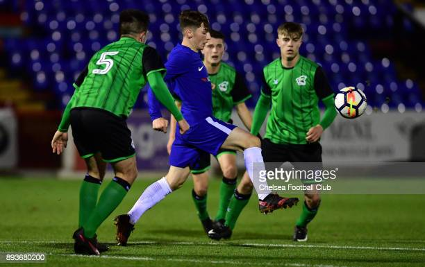 Billy Gilmour of Chelsea during the FA Youth Cup match between Chelsea FC and Scunthorpe United on December 15 2017 in Aldershot England