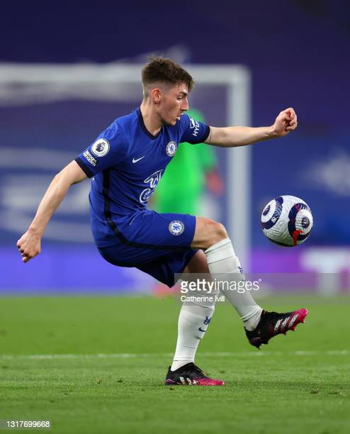 Billy Gilmour of Chelsea during the Premier League match between Chelsea and Arsenal at Stamford Bridge on May 12, 2021 in London, England. Sporting...