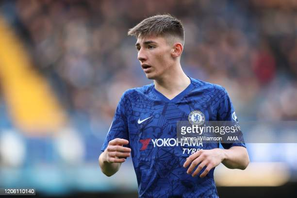 Billy Gilmour of Chelsea during the Premier League match between Chelsea FC and Everton FC at Stamford Bridge on March 8 2020 in London United Kingdom