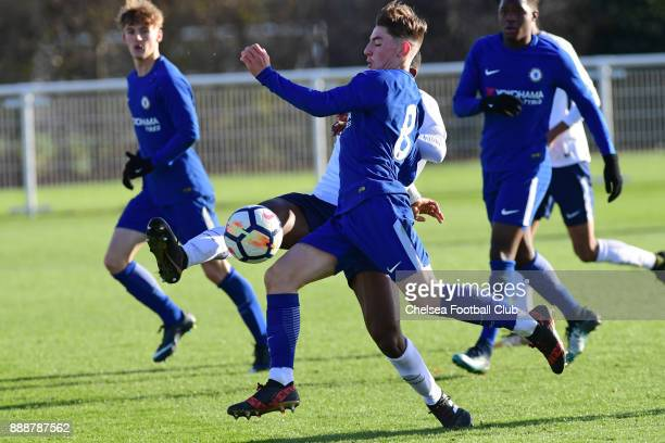 Billy Gilmour of Chelsea during the Tottenham Hotspur vs Chelsea U18's Premiere League Match on December 9 2017 in Enfield England