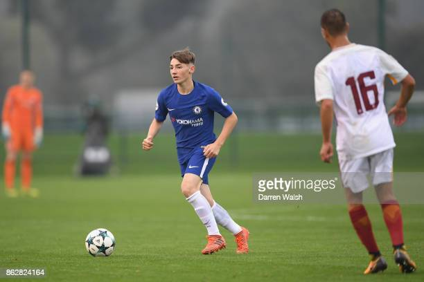 Billy Gilmour of Chelsea during the UEFA Youth League group C match between Chelsea FC U19 and AS Roma U19 at Chelsea Training Ground on October 18...