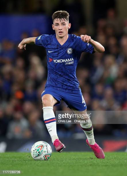 Billy Gilmour of Chelsea in action during the Carabao Cup Third Round match between Chelsea and Grimsby Town at Stamford Bridge on September 25 2019...