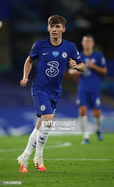 Billy Gilmour of Chelsea in action during the Premier League match between Chelsea FC and Watford FC at Stamford Bridge on July 04 2020 in London...