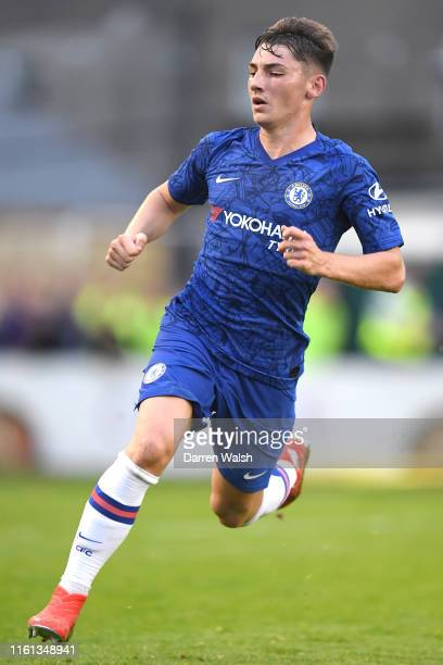 Billy Gilmour of Chelsea in action during the PreSeason Friendly match between Bohemians FC and Chelsea FC at Dalymount Park on July 10 2019 in...