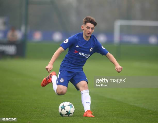 Billy Gilmour of Chelsea Under 19s during UEFA Youth League match between Chelsea Under 19s against AS Roma Under 19s at Cobham Training Ground...