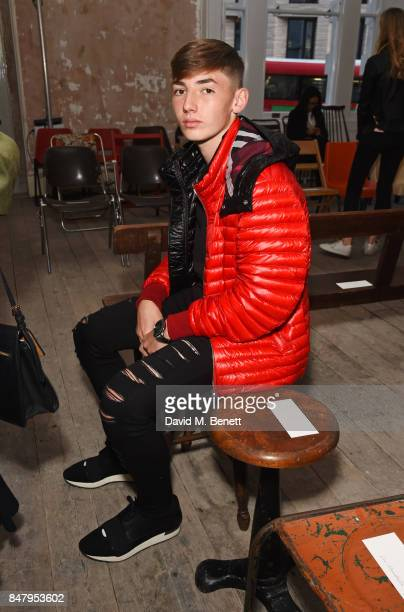 Billy Gilmour wearing Burberry at the Burberry September 2017 at London Fashion Week at The Old Sessions House on September 16 2017 in London England