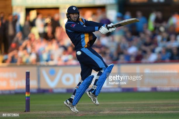 Billy Godleman of Derbyshire Falcons batting during the NatWest T20 Blast match between Derbyshire Falcons and Durham Jets at The 3aaa County Ground...