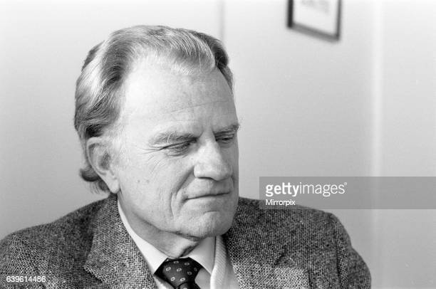 Billy Graham American Christian evangelist in London 19th January 1984