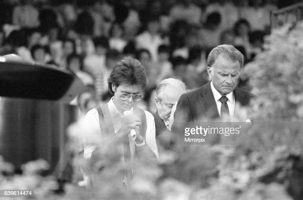 Billy Graham American Christian evangelist Mission England Crusade Villa Park Birmingham 6th July 1984 Special Guest singer Cliff Richard