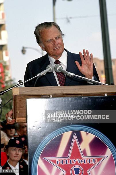 Billy Graham during Billy Graham Honored with a Star on the Hollywood Walk of Fame at 6901 Hollywood Blvd. In Hollywood, California, United States.