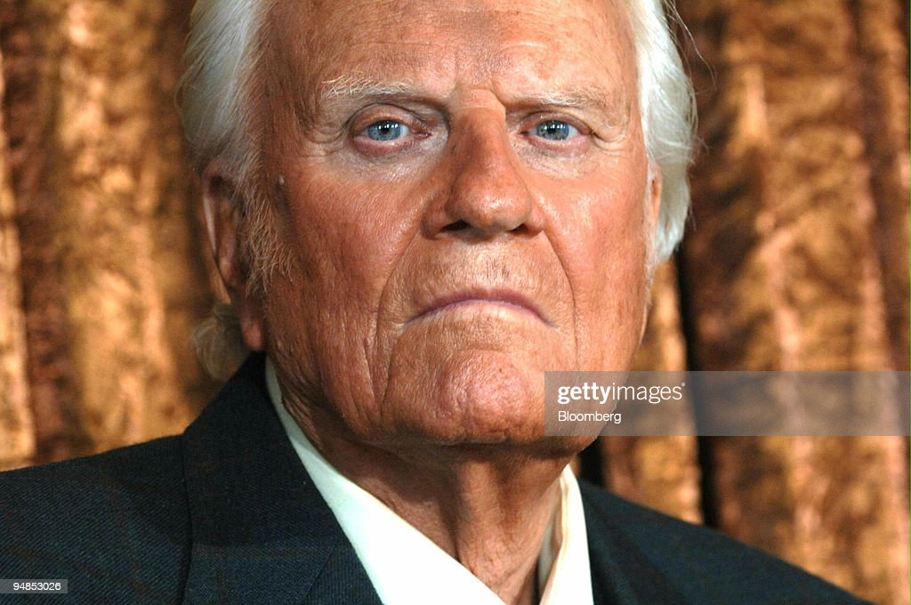 Billy Graham participates in a press conference in New York, Tuesday, June 21, 2005.