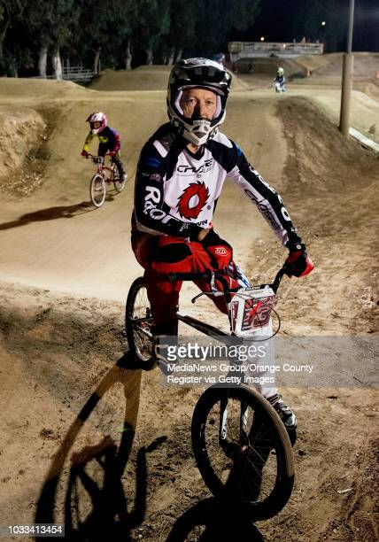 Billy Griggs an Orange County BMX racer is shown at the Orange Y BMX track in Orange Briggs who retired from professional BMX raining in 1996 learned...