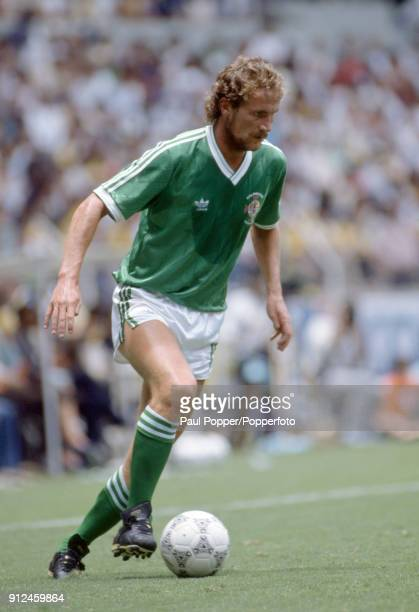 Billy Hamilton in action for Northern Ireland during the FIFA World Cup match between Northern Ireland and Brazil at the Estadio Jalisco in...